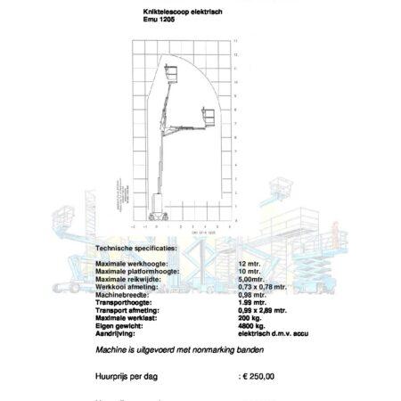 Masthoogwerker EMU1205